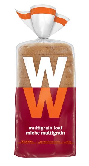 Multigrain bread slices inside a bag.
