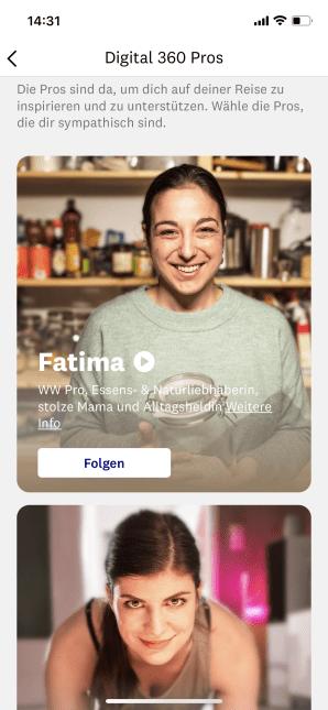 Mobile Vorschau der WW Pros Fatima und Sandra