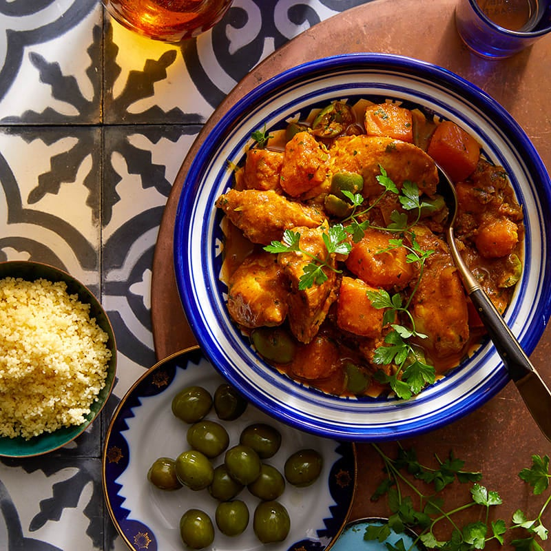 Photo of Chicken tagine with butternut squash, orange and onions by WW