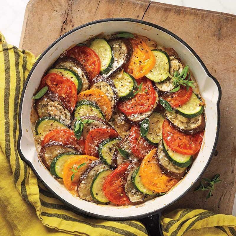 Photo of Farmers' market tomato, eggplant, and zucchini casserole by WW