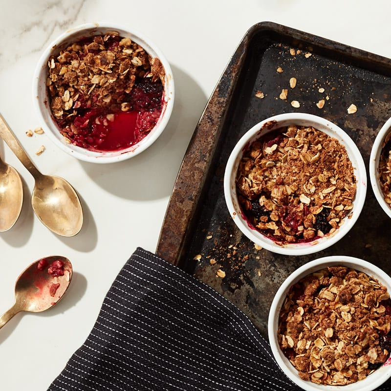 Photo of Cat Cora's mini mixed berry crumbles by WW