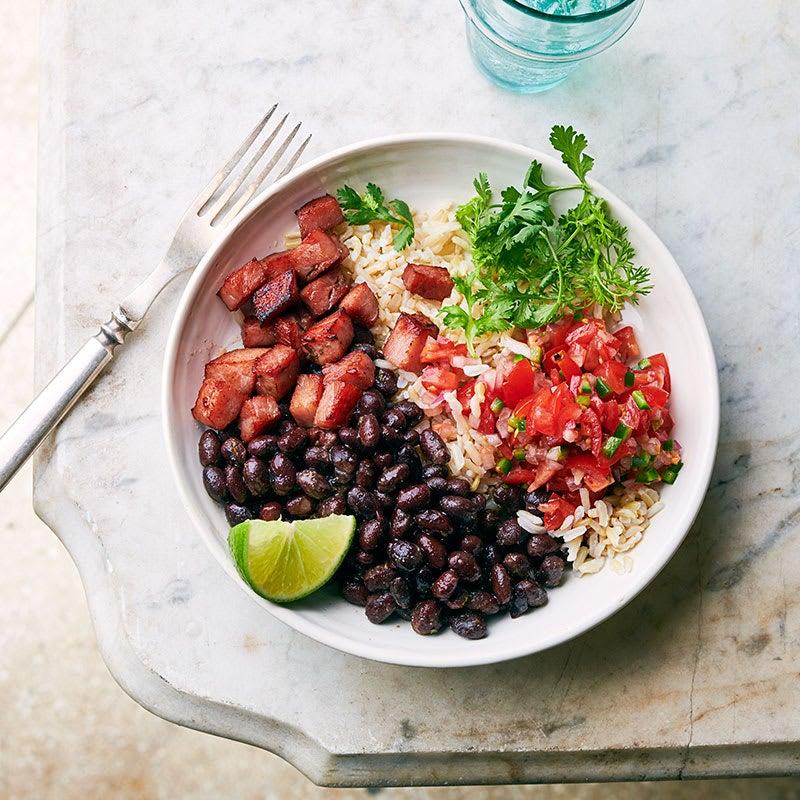Photo of Ham, salsa, & black bean bowl by WW