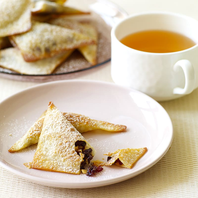 Photo of Baked chocolate, almond, and cranberry wontons by WW