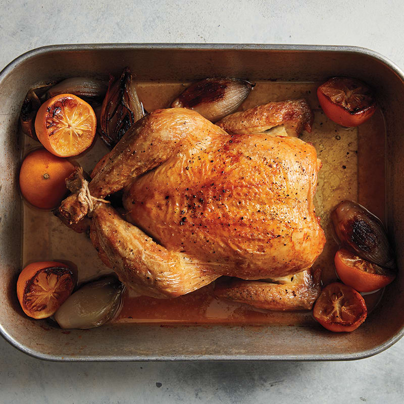 Photo of Roast chicken with Meyer lemons and shallot sauce by WW