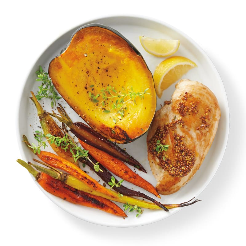 Photo of Baked chicken with squash & carrots by WW