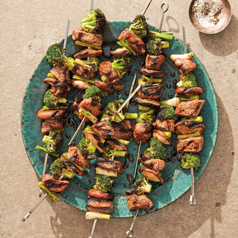 Photo of Grilled beef and broccoli skewers by WW