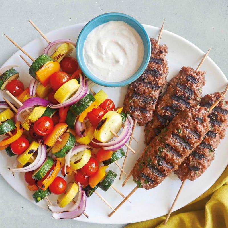 Photo of Grilled vegetarian kofta and vegetable kebabs by WW