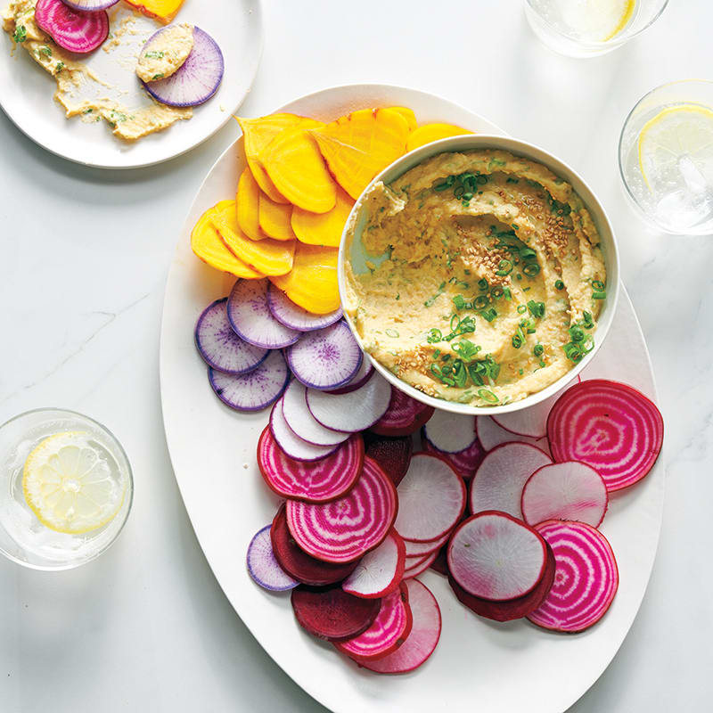 Photo of Miso hummus with veggie chips by WW
