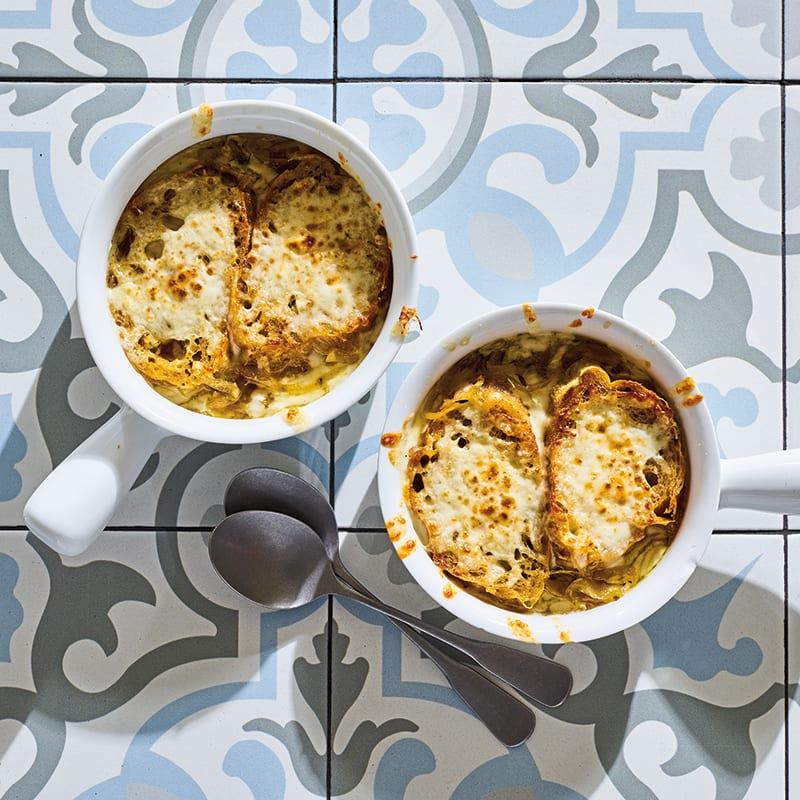 Photo of French onion soup with Gruyère toasts by WW