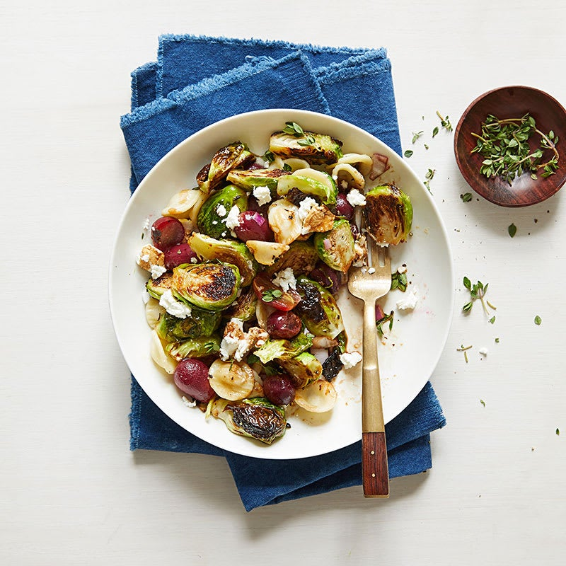 Photo of Orecchiette with roasted Brussels sprouts and grapes by WW
