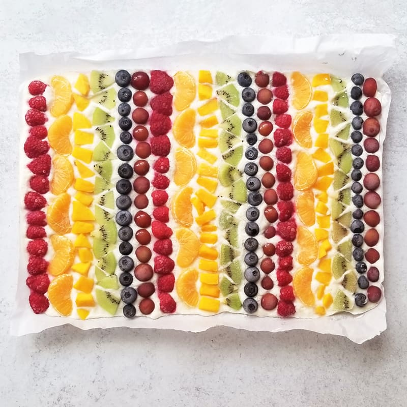 Photo of Rainbow fruit & yogurt bark by WW