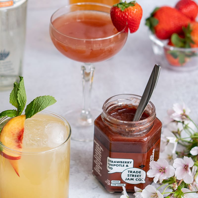 Photo of Smoky strawberry chipotle margarita by Trade Street Jam Co. by WW