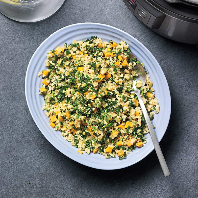 Photo of Brown rice, kale, and sweet potato pilaf by WW