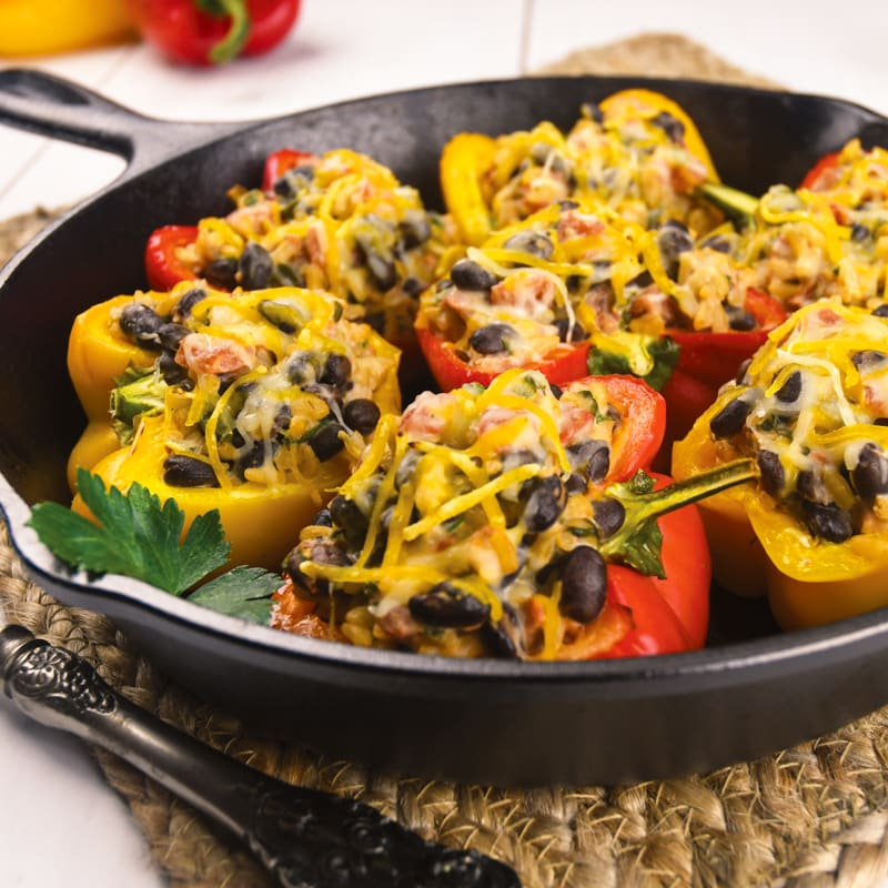 Photo of Black bean stuffed peppers by WW