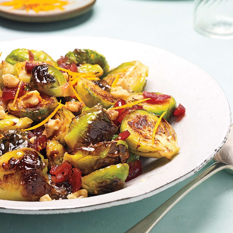Photo of Roasted Brussels sprouts with walnuts by WW