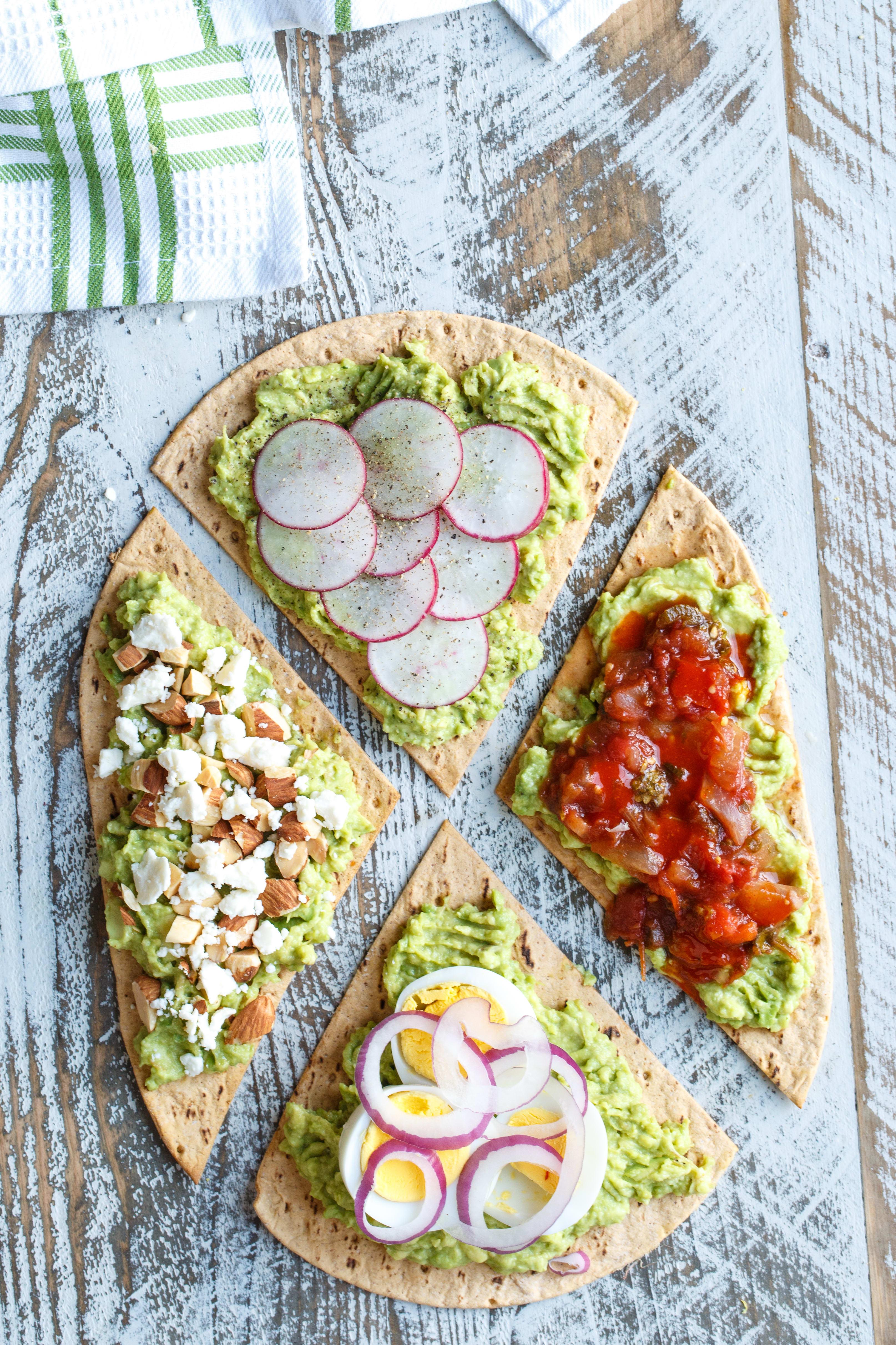 Photo of Avocado Flatbread four ways by WW