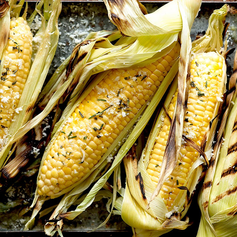 Photo of Grilled corn with rosemary butter and pecorino by WW