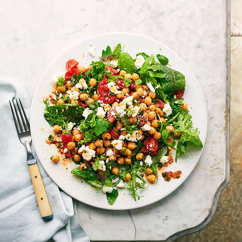 Photo of Chipotle-lime chickpea, avocado & tomato salad by WW