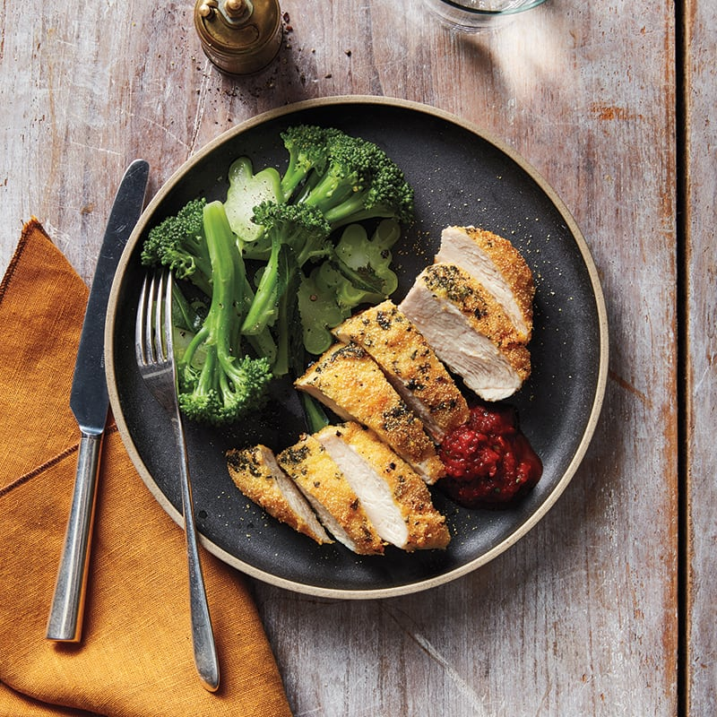 Photo of Crispy chicken with red pepper sauce by WW