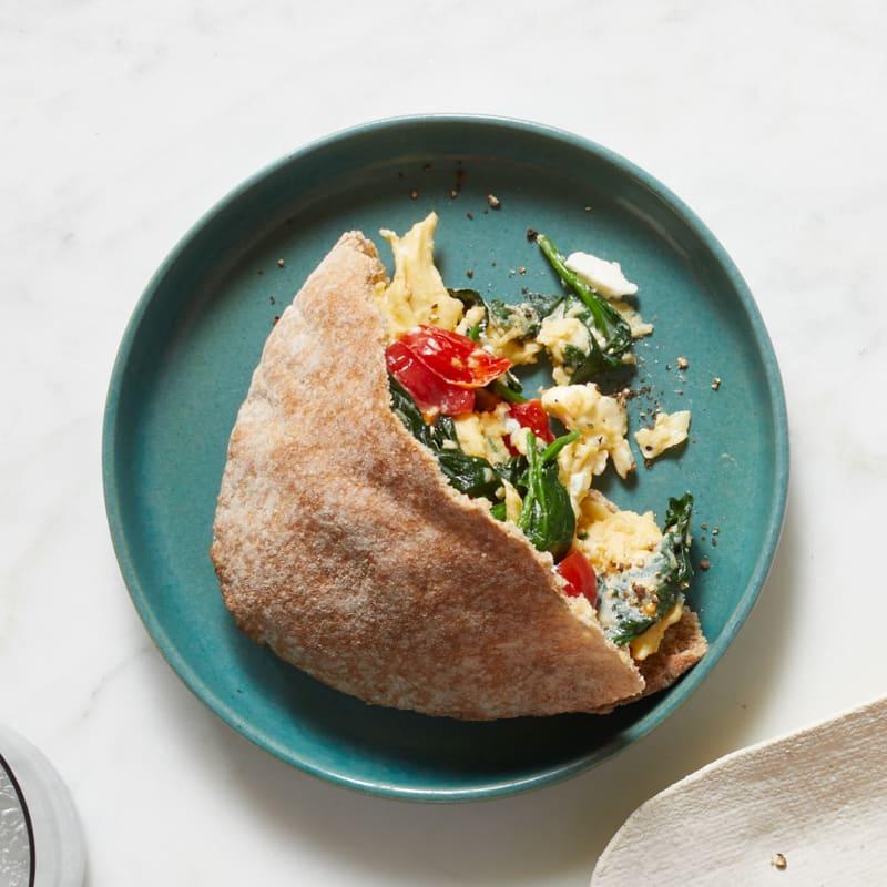 Photo of Greek-style breakfast pitas by WW