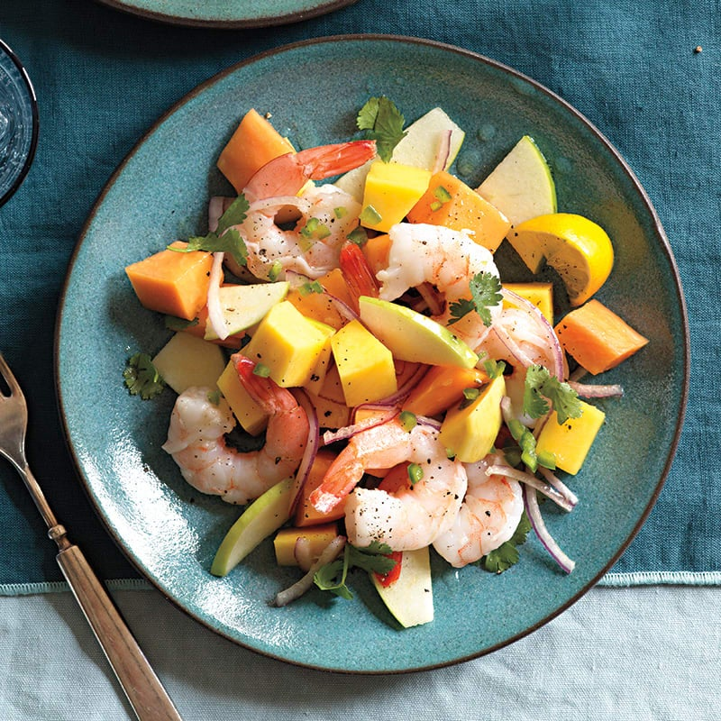 Photo of Shrimp salad with apple, papaya and mango by WW