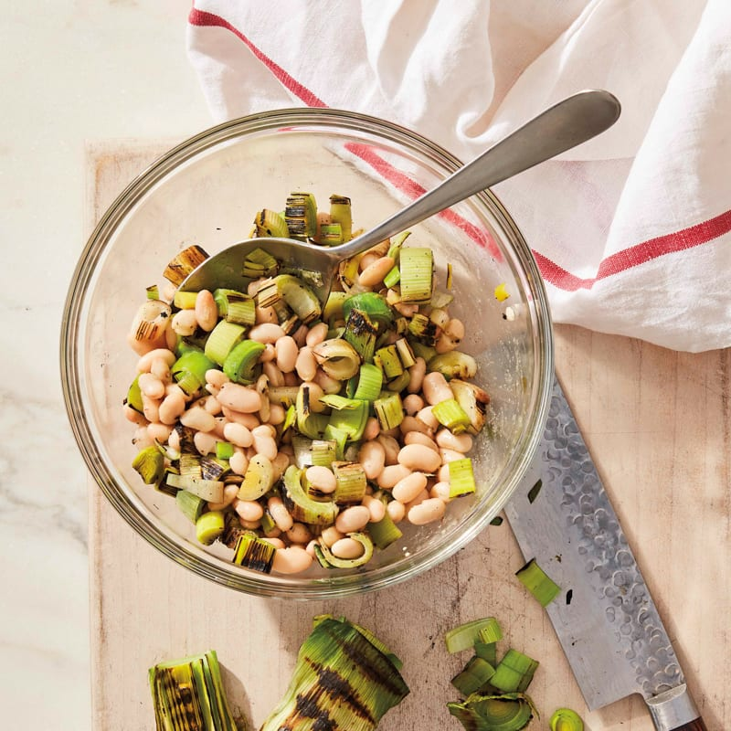 Photo of Grilled-leek and Northern bean salad by WW