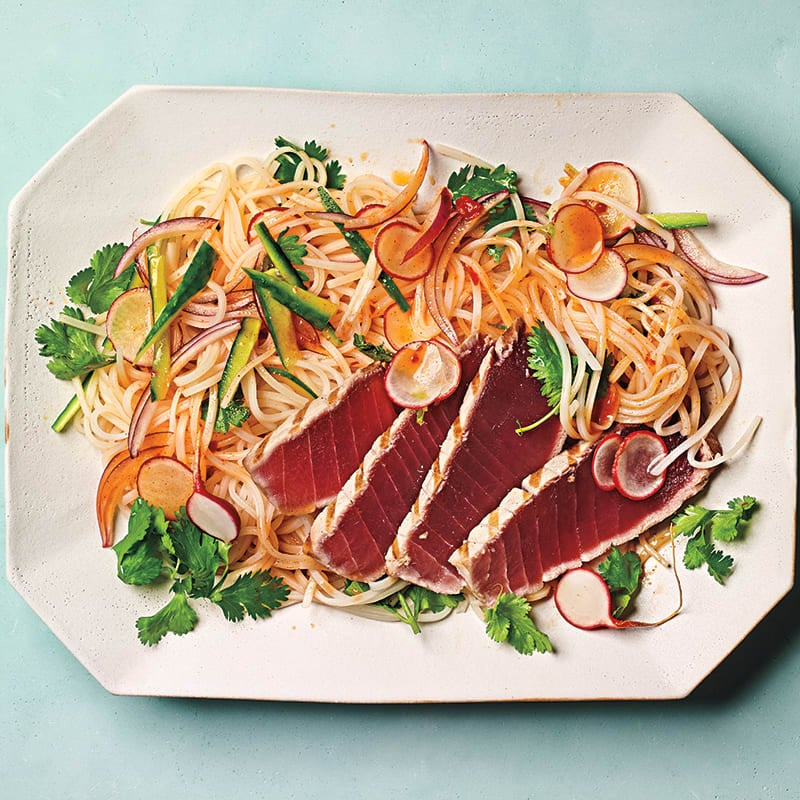 Photo of Grilled tuna with cucumber-noodle salad by WW