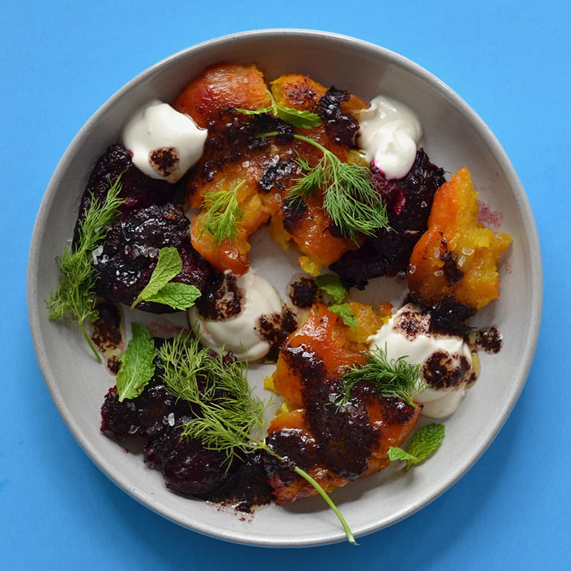 Photo of Crushed beets with blueberry-lemon vinaigrette by Trade Street Jam Co. by WW