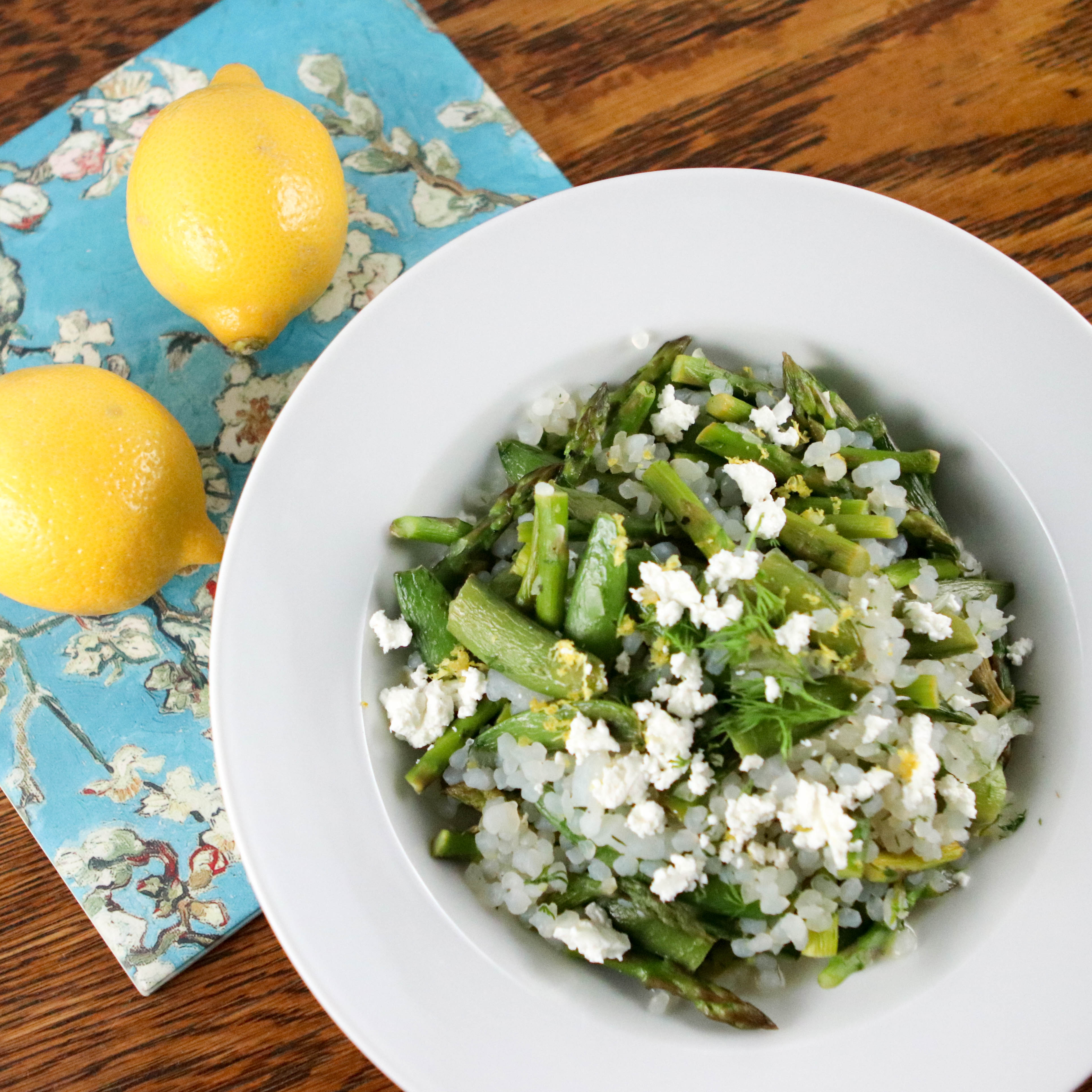 Photo of Lemony skinny couscous with spring vegetables and goat cheese by WW