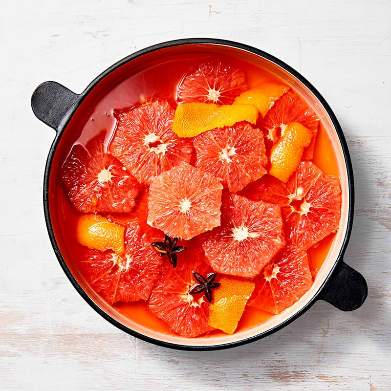 Photo of Campari-poached grapefruit by WW