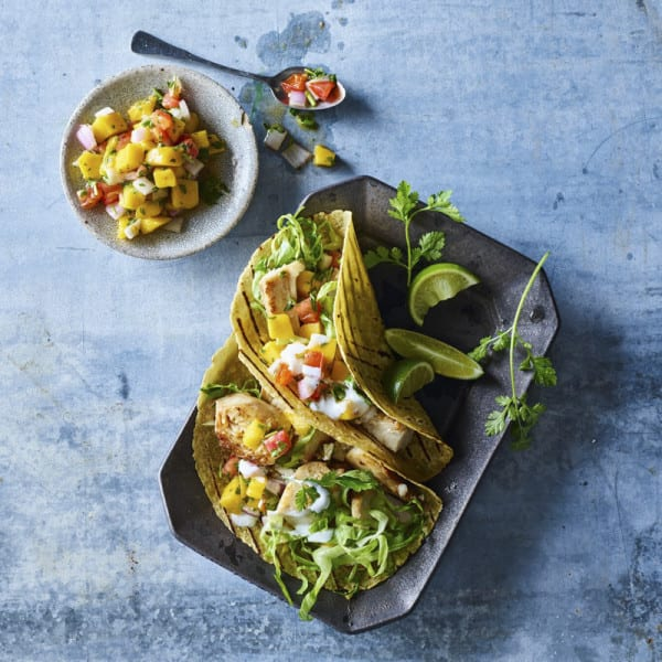 Photo of Fish tacos with mango salsa by WW