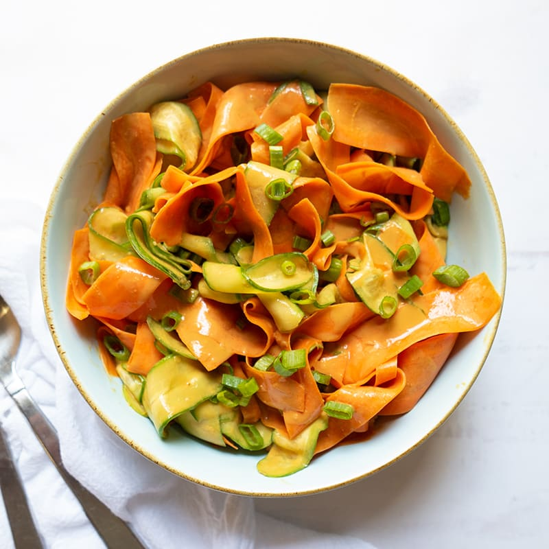 Photo of Carrot and Cucumber Ribbons with Peanut Sauce by WW