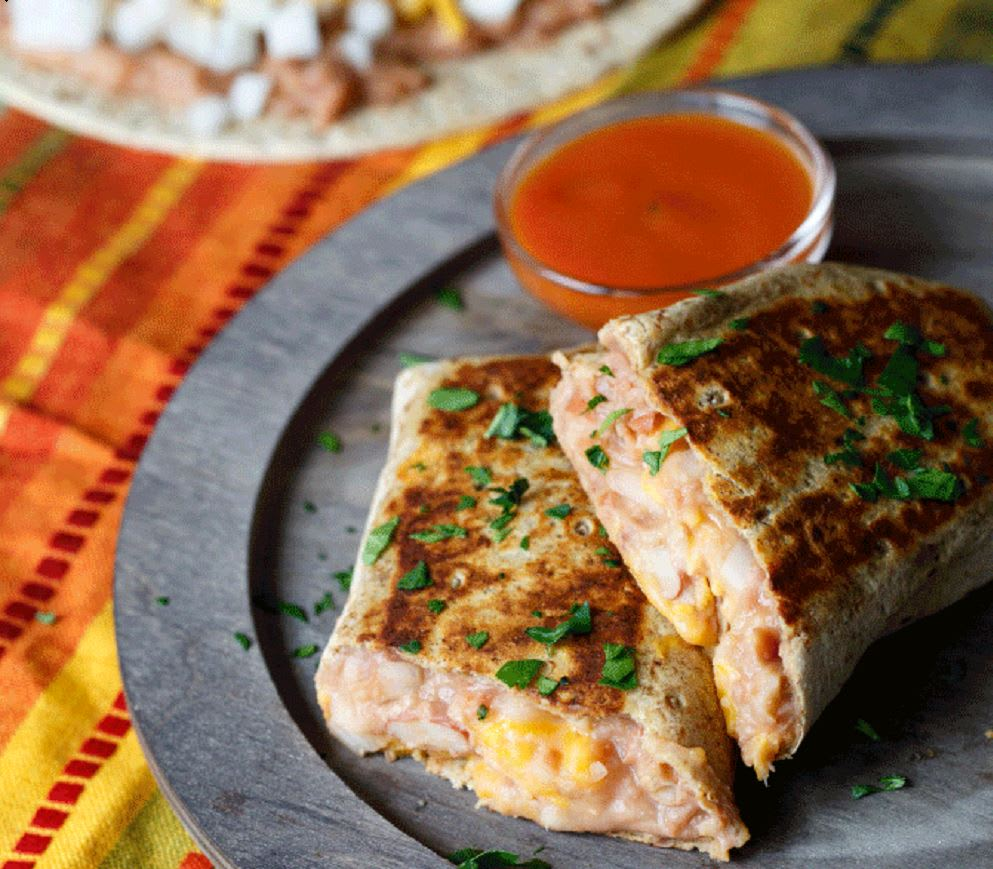 Photo of Grilled cheesy bean burrito by WW