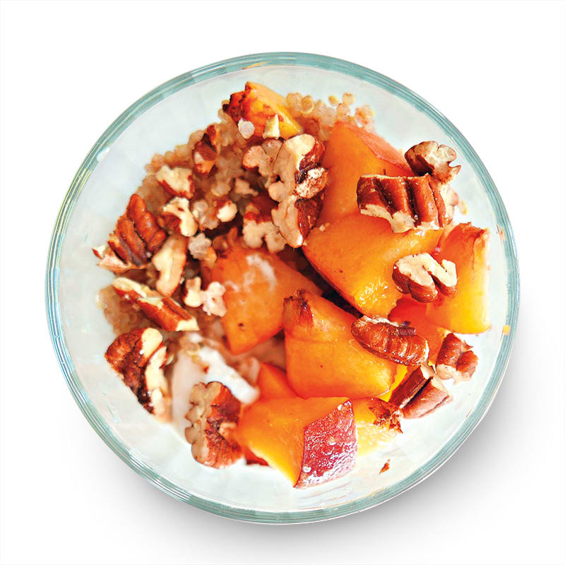 Photo of Quinoa parfait with peaches & pecans by WW