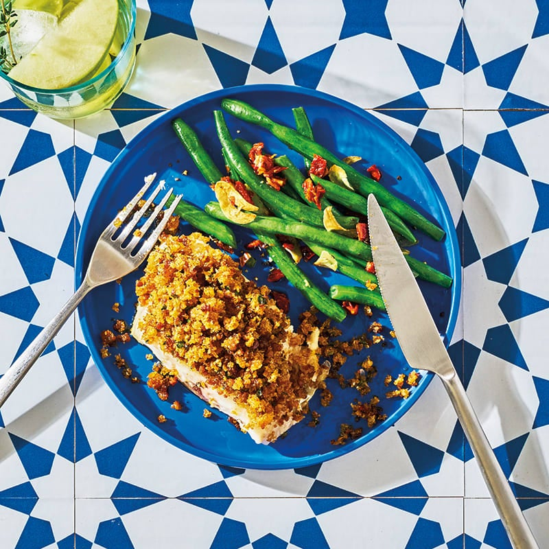 Photo of Sea bass fillets with chorizo crumbs by WW