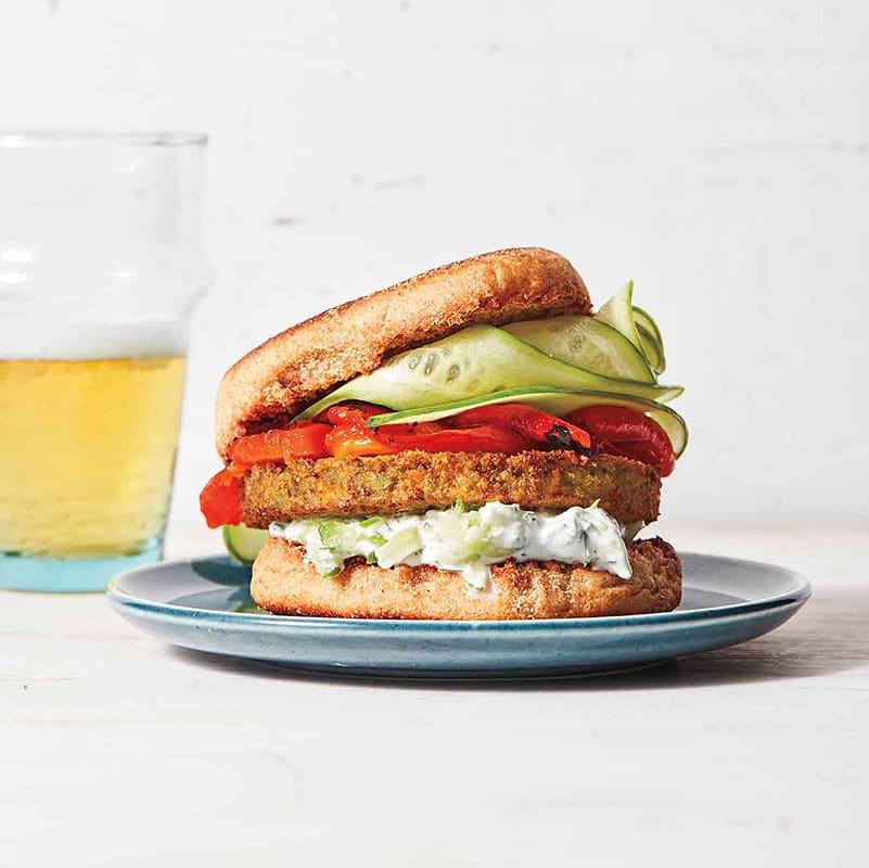 Photo of Greek-inspired veggie burgers by WW
