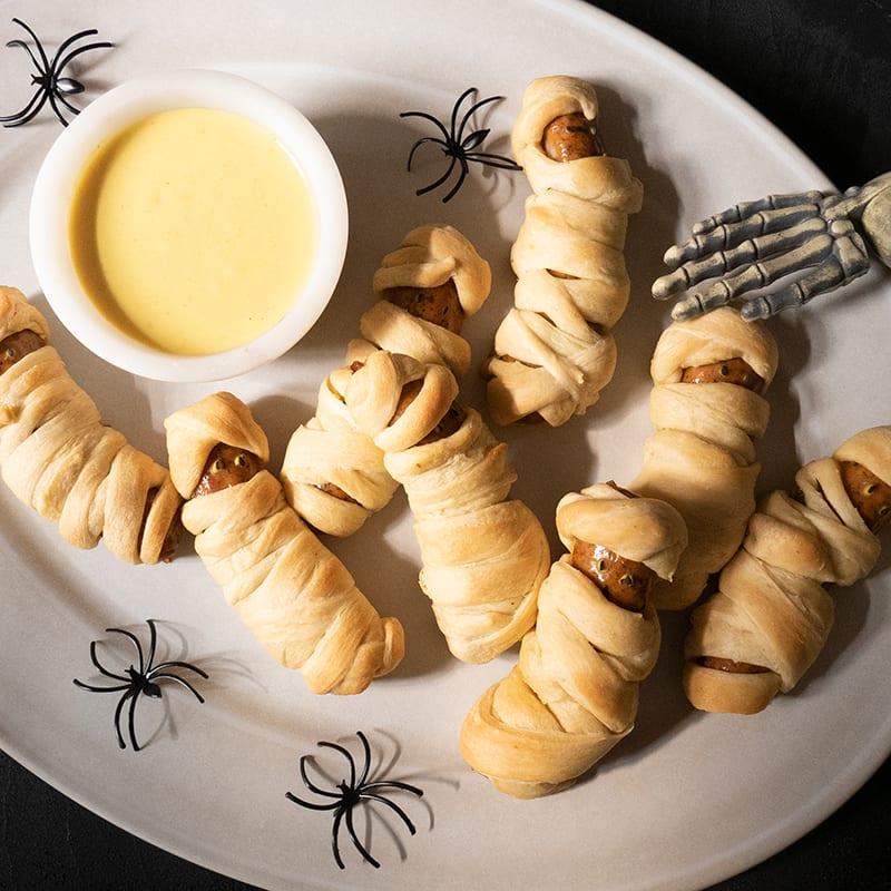 Photo of Halloween mummy sausage wraps by WW