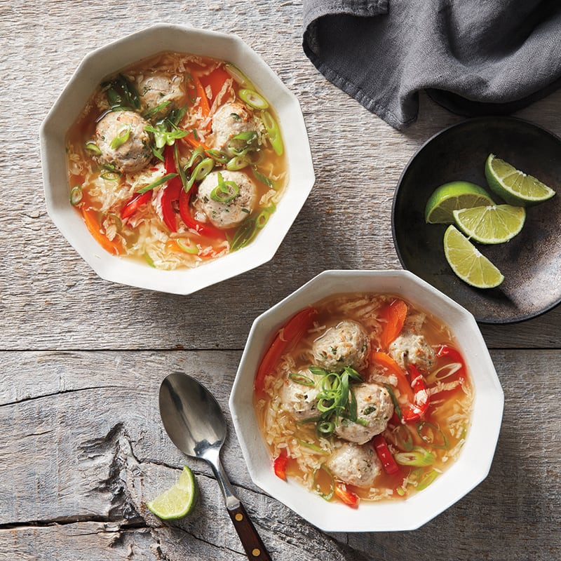 Photo of Ginger meatball and vegetable soup by WW