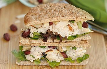 Photo of Cranberry almond chicken salad sammie by WW