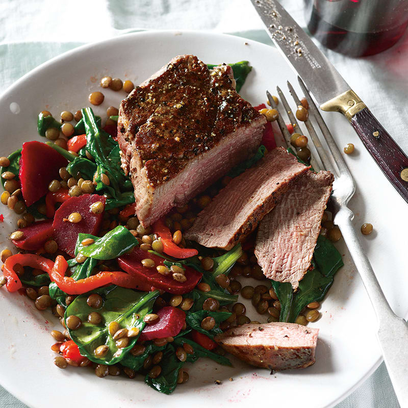 Photo of Filet Mignon with Warm French Lentil Salad by WW