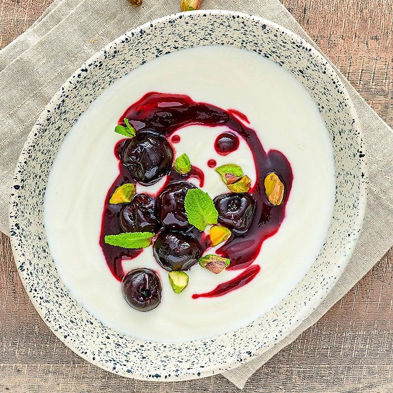 Photo of Greek yogurt with cherry compote by WW