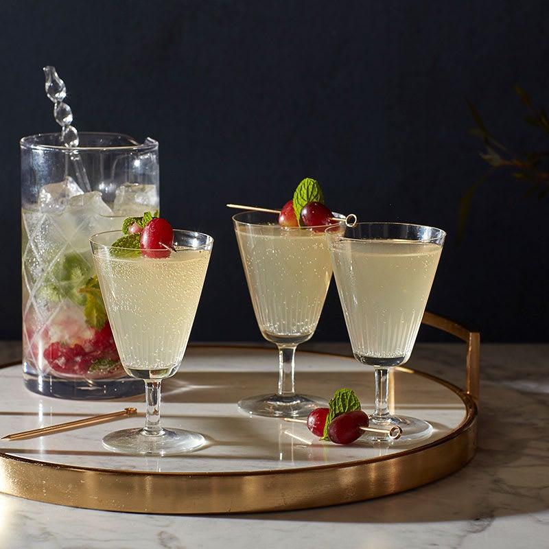 Photo of Sparkling elderflower-mint cocktail with cense wine by WW