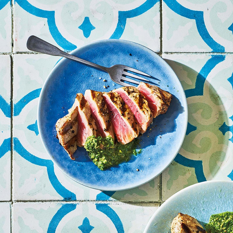 Photo of Grilled tuna with Italian salsa verde by WW