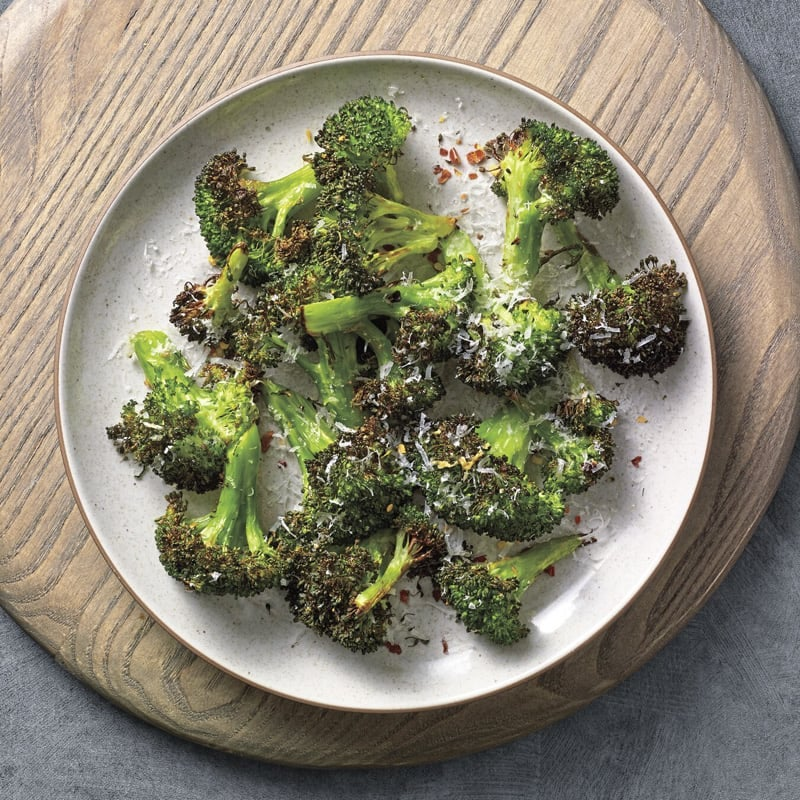 Photo of Air fryer Pecorino-dusted broccoli by WW