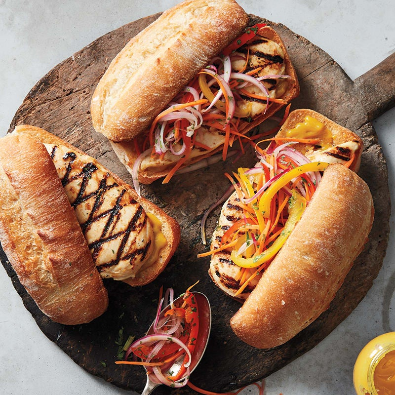 Photo of Chicken sandwiches with pickled vegetable slaw by WW