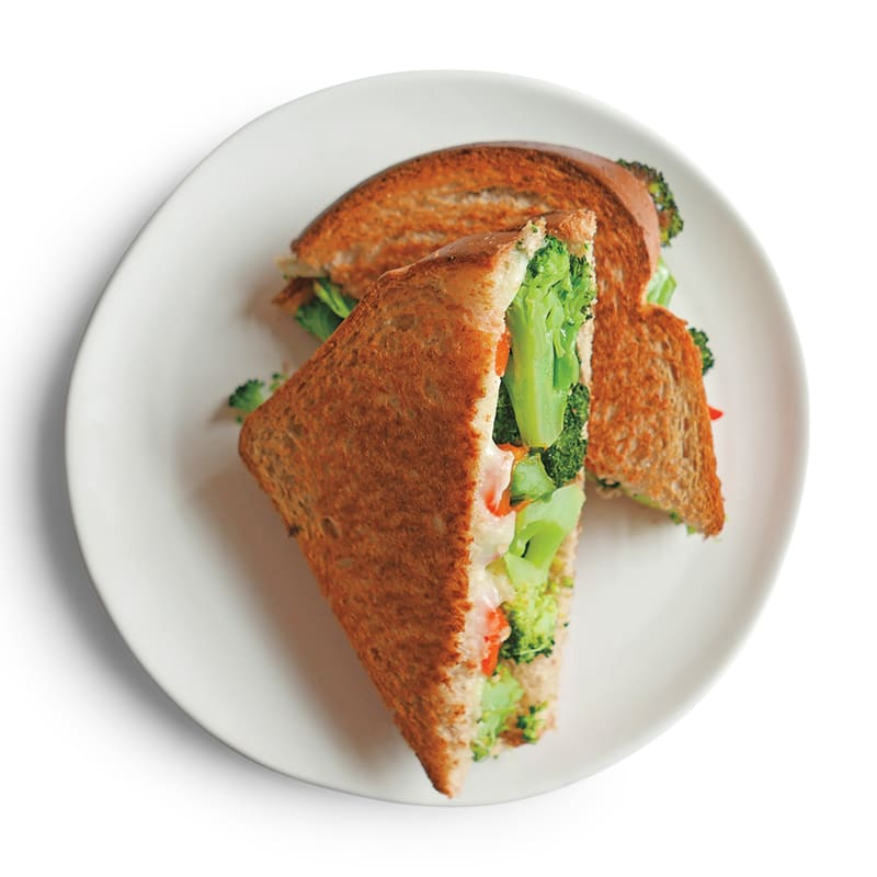 Photo of Roasted broccoli grilled cheese by WW