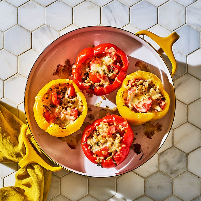 Photo of Peppers stuffed with farro, anchovies & tomatoes by WW