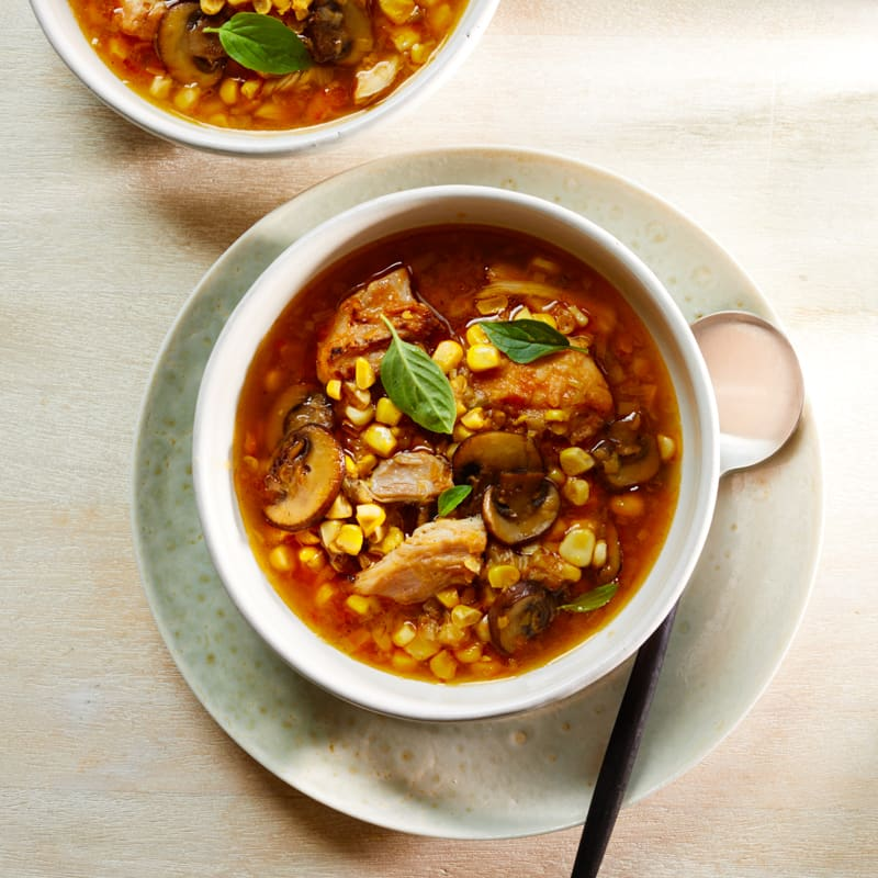 Photo of Slow cooker chicken thighs with chile and corn stew by WW