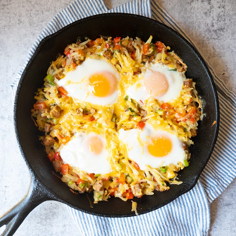 Photo of Grilled Egg-Topped Skillet Hash by WW