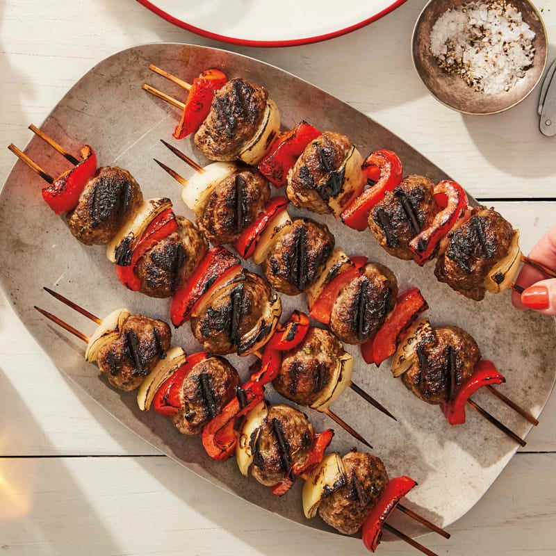 Photo of Grilled meatball kebabs by WW